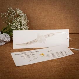 Invitatie de nunta Veronique Floral Crem - ASAMBLARE GRATUITA