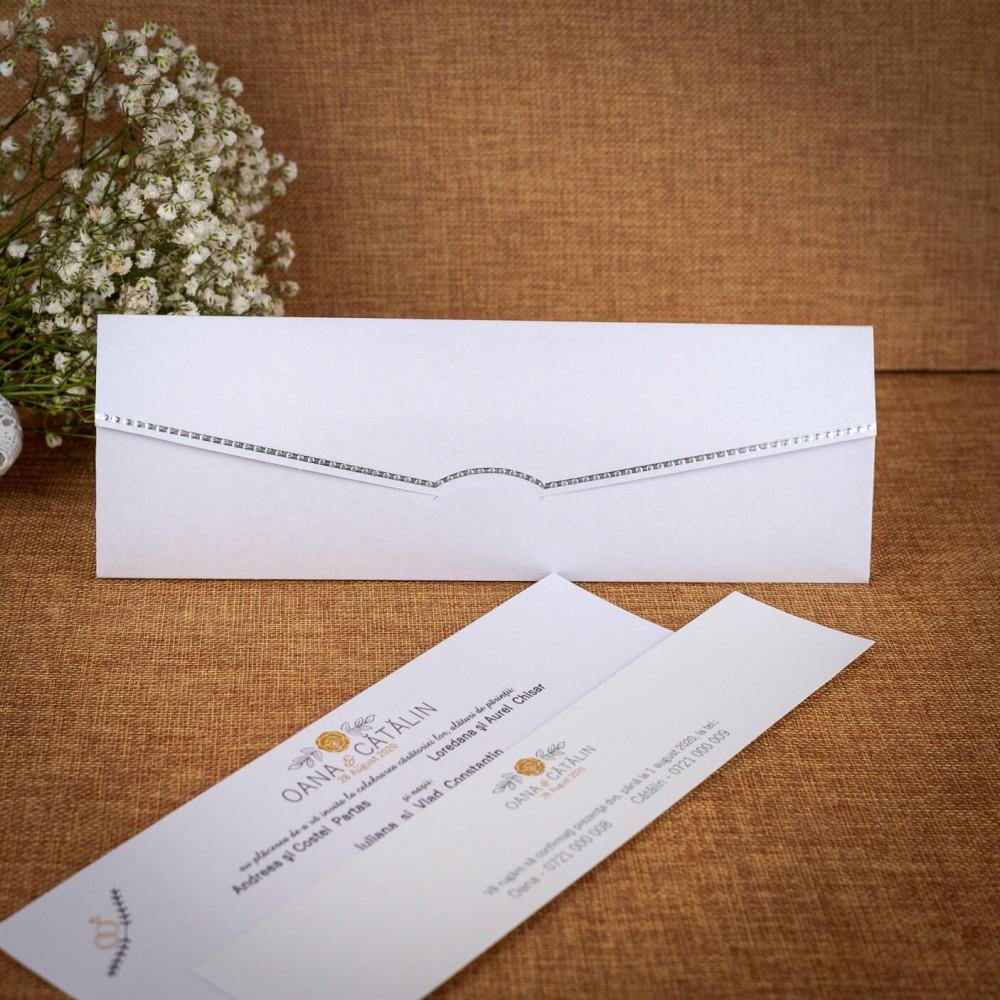 Invitatie de nunta Wendy cu Cartonas Confirmare - TIPARIRE GRATUITA