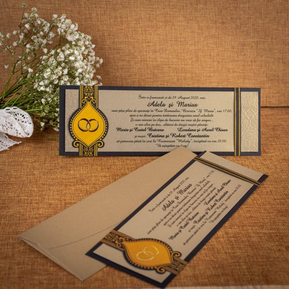 Invitatie de nunta Wilmotine Verighete - TIPARIRE GRATUITA