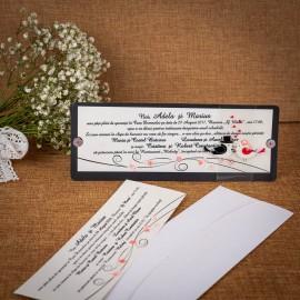 Invitatie de nunta Zella Floral - TIPARIRE GRATUITA