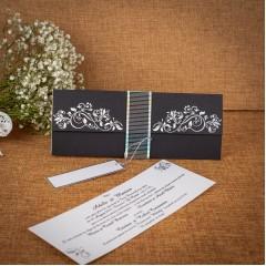 Invitatie de nunta Zinaida Floral Emboss - TIPARIRE GRATUITA