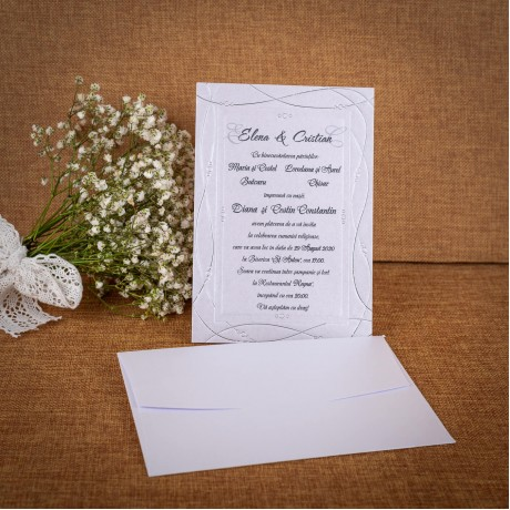 Invitatie de nunta Yvette Clasic - ASAMBLARE GRATUITA