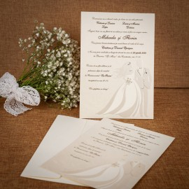 Invitatie de nunta Simone Miri Emboss - TIPARIRE GRATUITA
