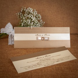 Invitatie de nunta Candace cu Funditã - TIPARIRE GRATUITA