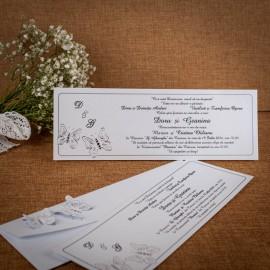 Invitatie de nunta Sabella Fluturasi - ASAMBLARE GRATUITA