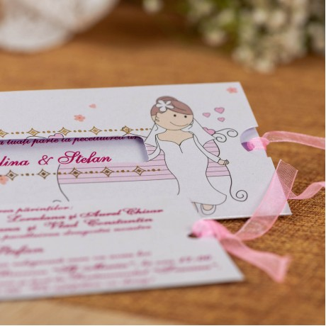 Invitatie de nunta 590 - Tipãrire Gratuitã