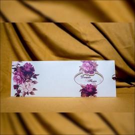 Invitatie de nunta Laila Floral cu Fereastra Tip Plic