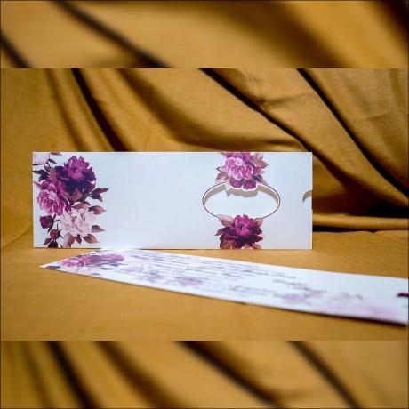 Invitatie de nunta Laila Floral cu Fereastra Tip Plic - Tip Plic