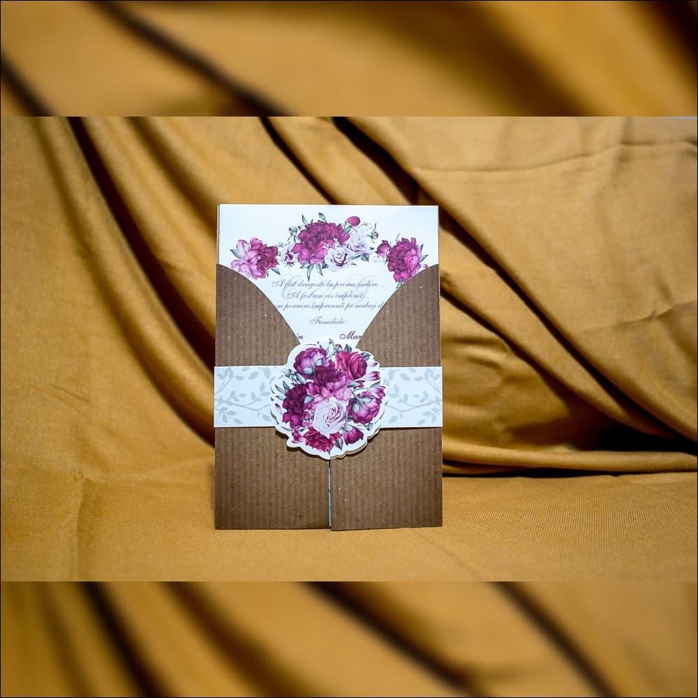 Invitatie de nunta Faustine Bentitã Floralã Vintage - Vintage