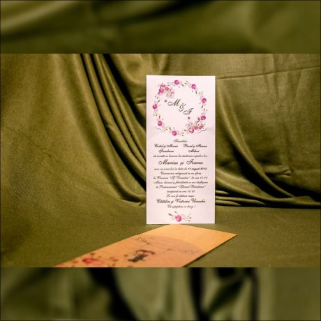 Invitatie de nunta Fernandina Miri în Leagãn - Miri