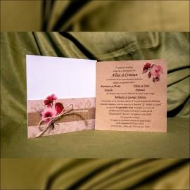 Invitatie de nunta Ginger Floral Vintage
