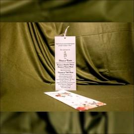 Invitatie de nunta Callie Floral cu Panglicã