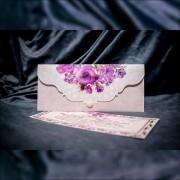 Invitatie de nunta Antonella Floral cu Perlã Tip Plic