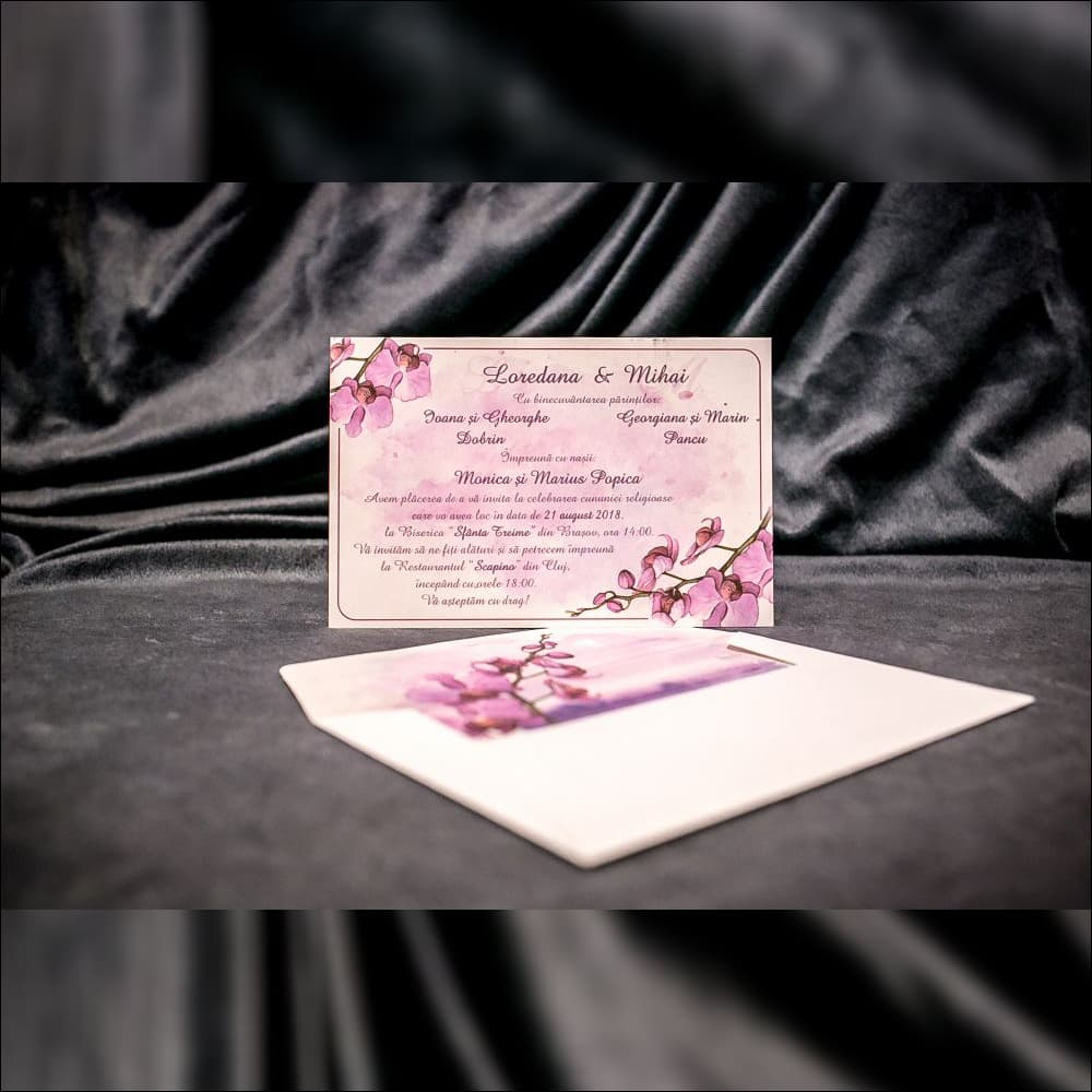 Invitatie de nunta Patricia Orhidee