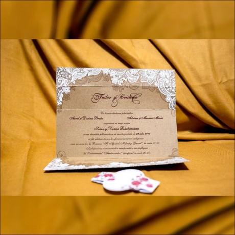 Invitatie de nunta Susan Vintage Floral