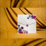 Invitatie de nunta Teofila Floral Damask cu Panglicã