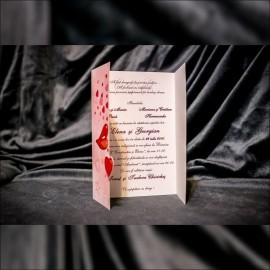 Invitatie de nunta Idalia Buze Inimioare