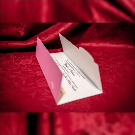 Invitatie de nunta Iona Flori de Cires cu Miri Tip Plic