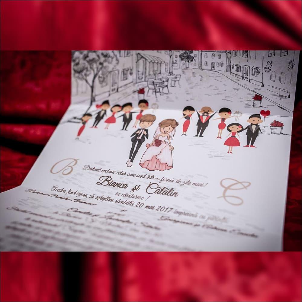 Invitatie de nunta Idella Miri Scrisoare cu Inimioarã
