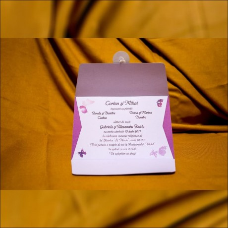 Invitatie de nunta Gabriella Fluturi Tip Plic