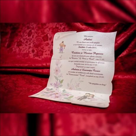 Invitatie nunta botez 5011