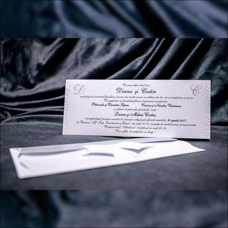 Invitatie de nunta Louella Funditã Emboss Tip Plic - Emboss