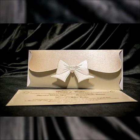 Invitatie de nunta Melitta Funditã Emboss Tip Plic - Emboss