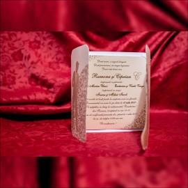 Invitatie de nunta Drusilla Miri Valsând cu Verighete