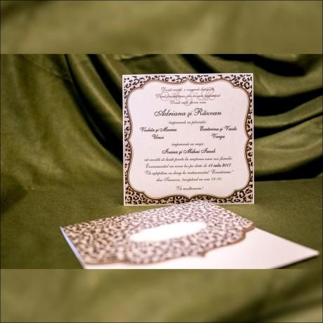 Invitatie de nunta Dulcibella Leopard Sidefat - Invitatii De Nunta