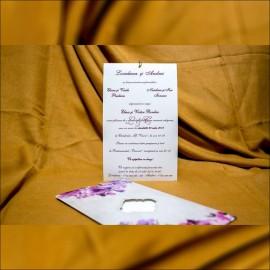 Invitatie de nunta Rosaleen Floral cu Chenar