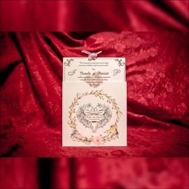 Invitatie de nunta Verna Chenar Inimioarã cu Pozã