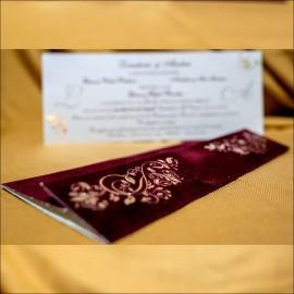 Invitatie de nunta Zenaida Catifea Premium Emboss