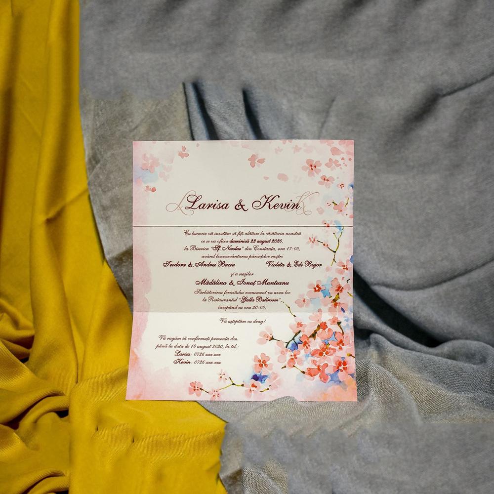 Invitatie De Nunta Grace Flori De Cires Cu Bentitã Bentitã