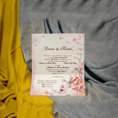 Invitatie de nunta Grace Flori de Cires cu Bentitã