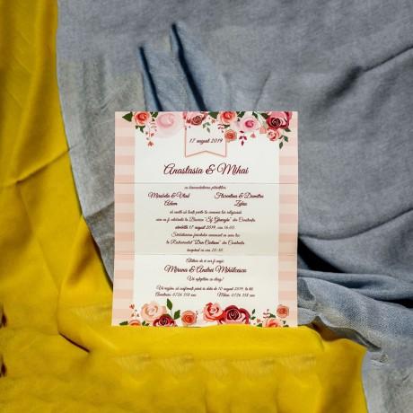 Invitatie de nunta Greta Trandafiri cu Bentitã