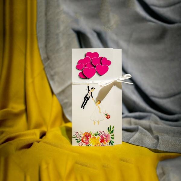 Invitatie de nunta Adelyn Miri si Balonase Inimioare Haioasã