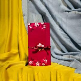 Invitatie de nunta Belinda Floral cu Panglicã Visinie
