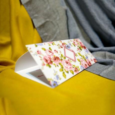 Invitatie de nunta Brita Floral Tip Plic - Tip Plic