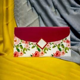 Invitatie de nunta Bonnie Floral Tip Plic