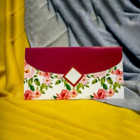 Invitatie de nunta Bonnie Floral Tip Plic - Tip Plic