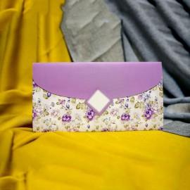 Invitatie de nunta Celestia Floral Lila Tip Plic