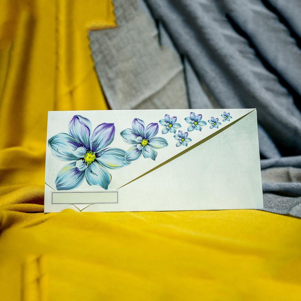 Invitatie de nunta Clarabella Floral Turquoise Tip Plic - Tip Plic