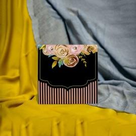 Invitatie de nunta Colette Floral cu Dungi Roz