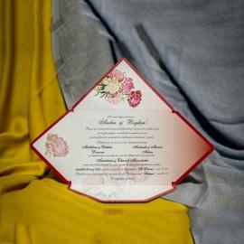 Invitatie de nunta Clotilda Floral Tip Plic