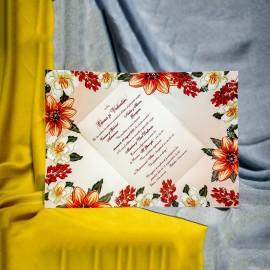 Invitatie de nunta Editha Floral Tip Plic
