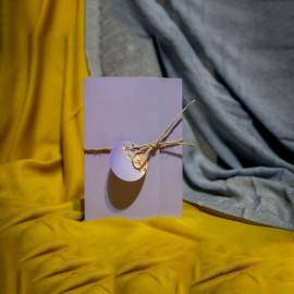 Invitatie de nunta Ethelyn Floral Lila cu Snur