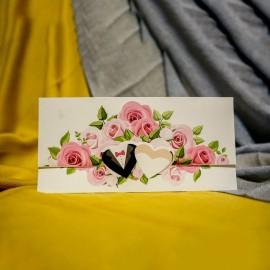Invitatie de nunta Evanthia Floral cu Inimioare
