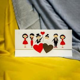 Invitatie de nunta Geraldine Miri cu Inimioare si Nuntasi