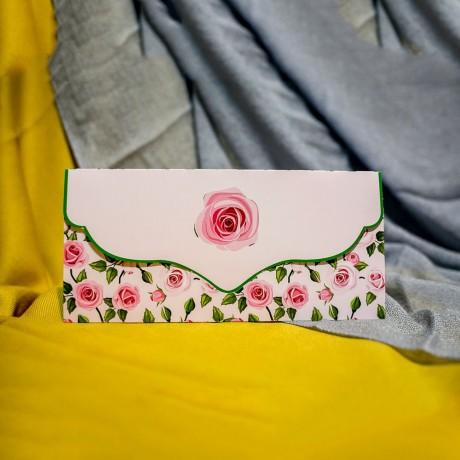 Invitatie de nunta Georgia Floral Trandafiri Tip Plic