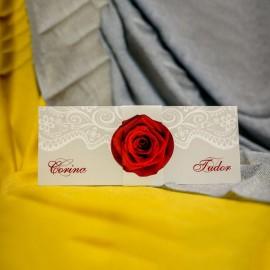 Invitatie de nunta Irene Floral Trandafir cu Bentitã